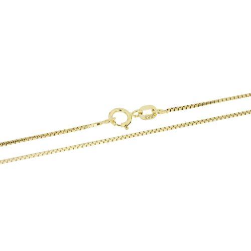Klasický zlatý řetízek venezia - 45 cm
