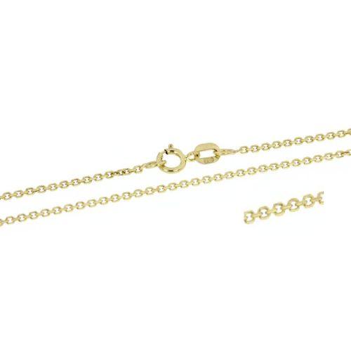 Klasický zlatý řetízek ankr - 38 cm