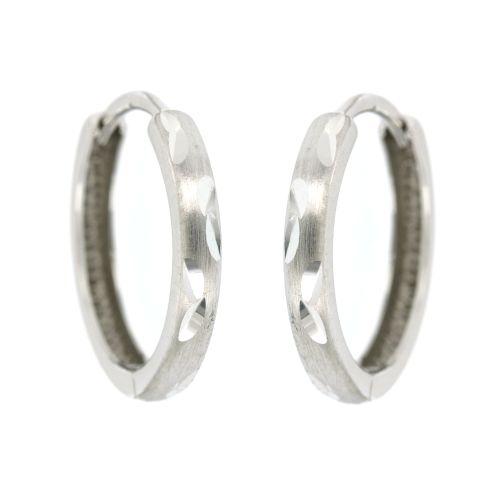 Stříbrné náušnice kroužky s jemnou rytinou EDD012728