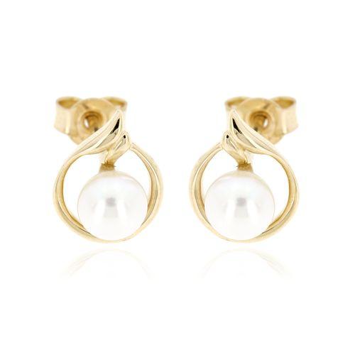 Dámské zlaté náušnice perličky GE0567