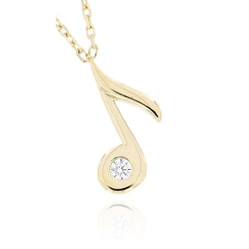 Zlatý náhrdelník nota