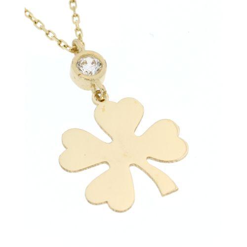 Zlatý náhrdelník čtyřlístek