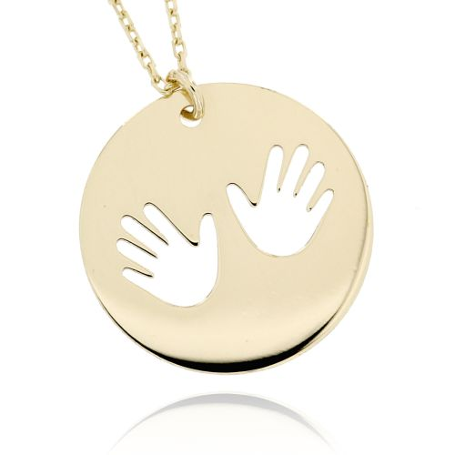 Zlatý náhrdelník otisk rukou