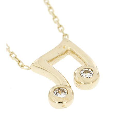 Zlatý náhrdelník noty