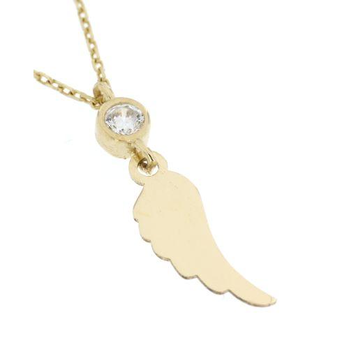 Zlatý náhrdelník andělské křídlo