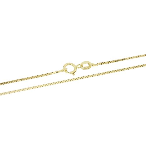 Klasický zlatý řetízek venezia - 55 cm