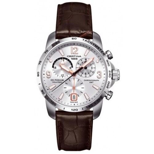 CERTINA DS PODIUM GMT C001.639.16.037.01, Pánské náramkové hodinky