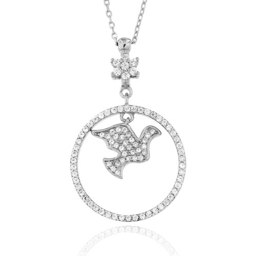 Dámský ozdobný náhrdelník ze stříbra 098