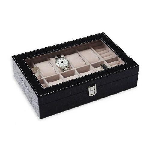 JK BOX SP-938/A25, Kazeta na hodinky hnědo-černá