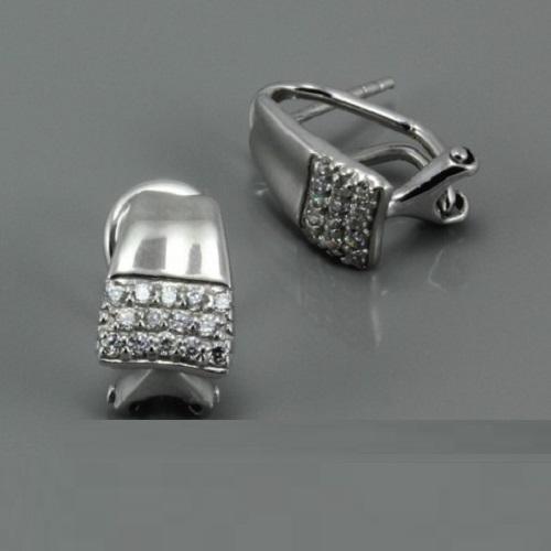 Módní dámské stříbrné náušnice 314AE13
