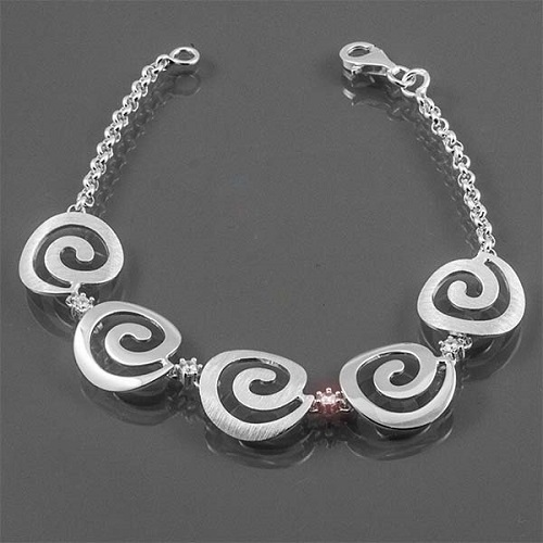 Stříbrný dámský náramek spirálky AUS10428