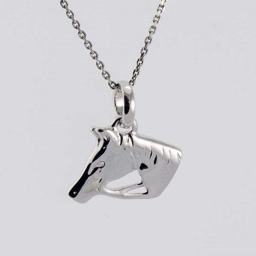 Stříbrný přívěsek hlava koně 348610