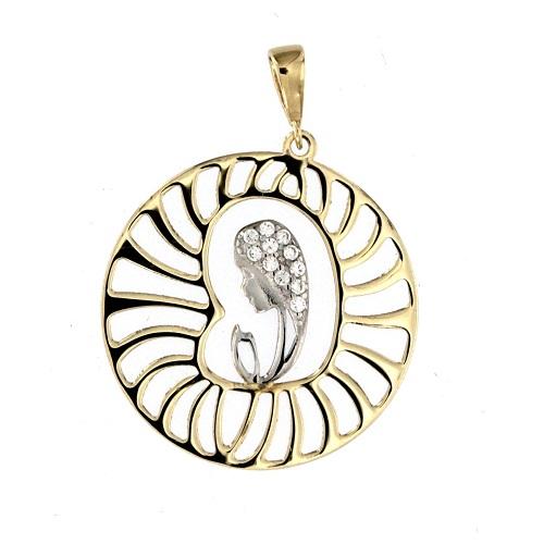 Zlatý přívěsek madonka 18608