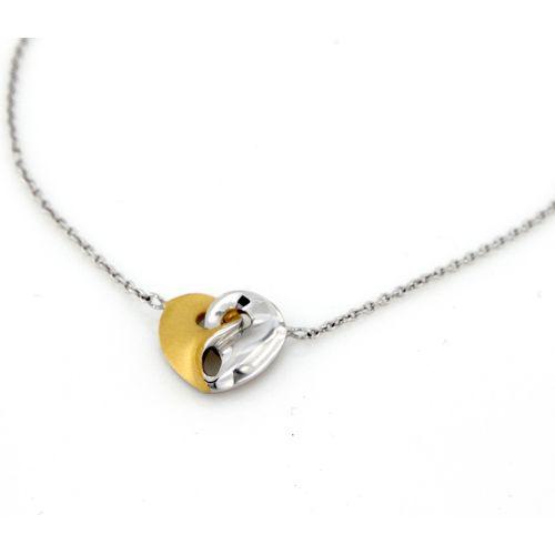 Stříbrný dámský náhrdelník srdíčko
