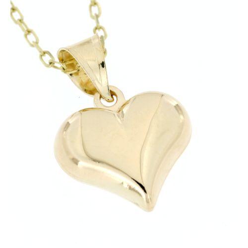 6d7cba207 Zlatý přívěsek hladké srdce 3664