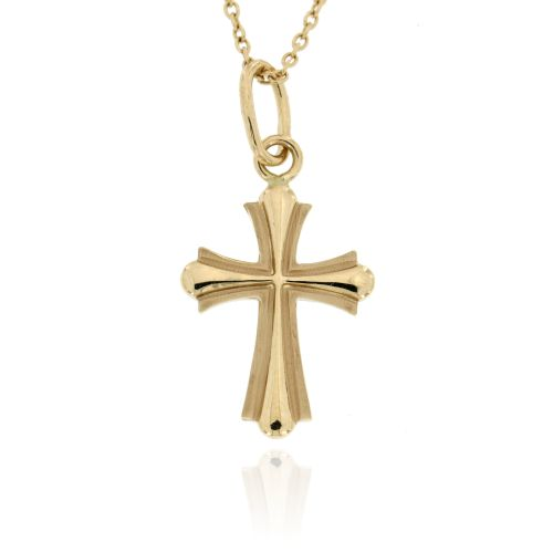 Zlatý přívěsek křížek 060