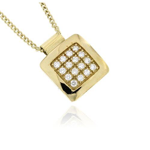 Diamantový náhrdelník ze žlutého zlata 31736