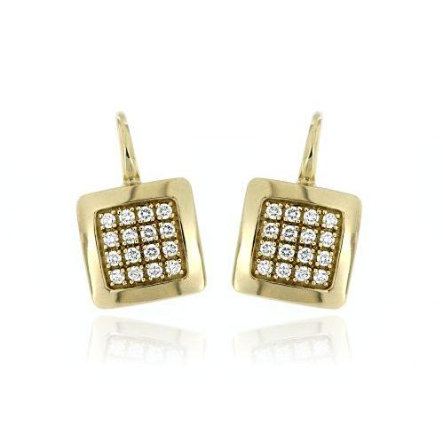 Zlaté diamantové náušnice 31735