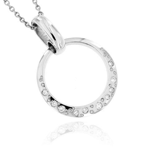 Zlatý diamantový přívěsek 30479