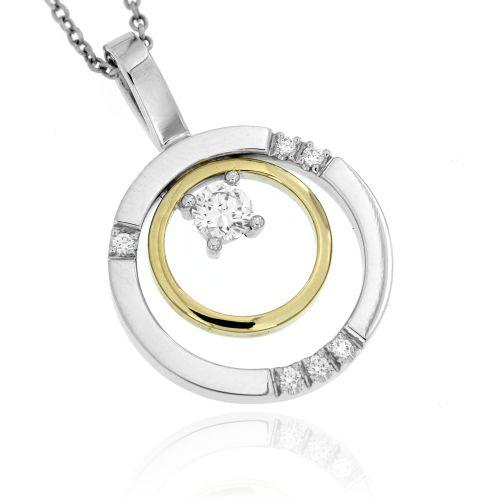 Zlatý diamantový přívěsek 33341