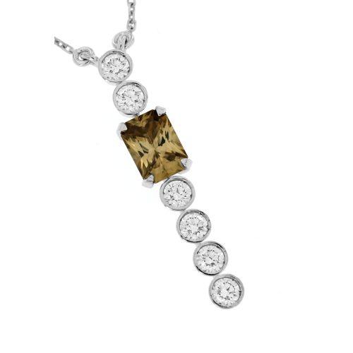 Diamantový náhrdelník s přírodním zirkonem 33345