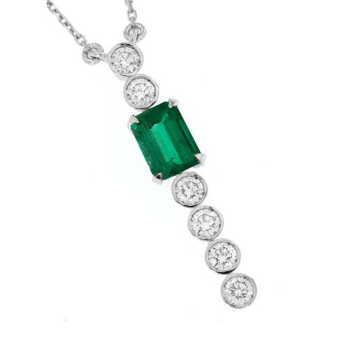 Diamantový náhrdelník se smaragdem 33344