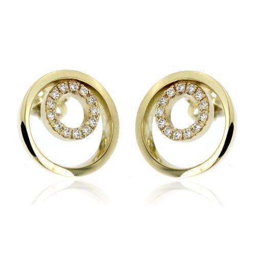 Zlaté diamantové náušnice 33339
