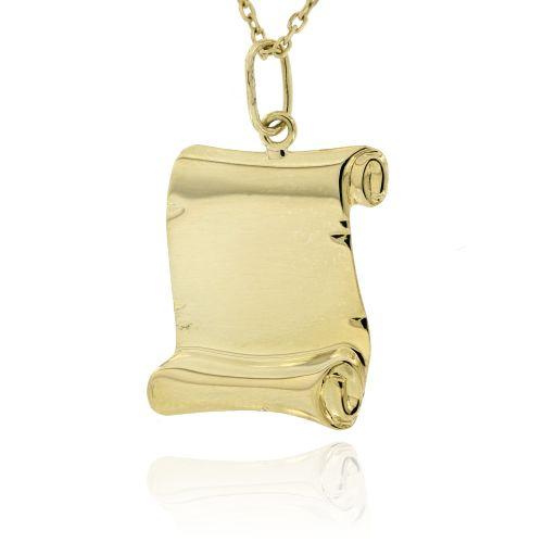 Zlatý přívěsek pergamen 875