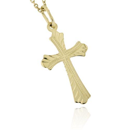 Zlatý přívěsek křížek 873