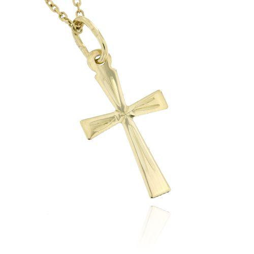 Zlatý přívěsek křížek 874