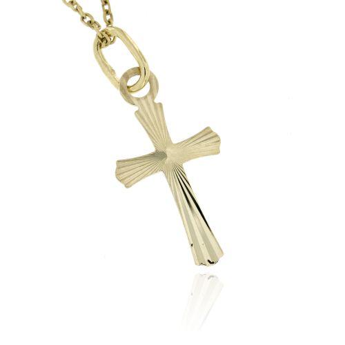 Zlatý přívěsek křížek 45