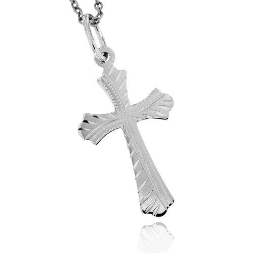 Zlatý přívěsek křížek 873B