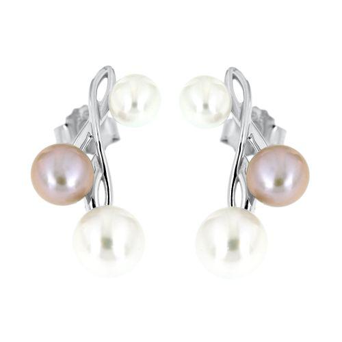 Stříbrné perlové náušnice 225