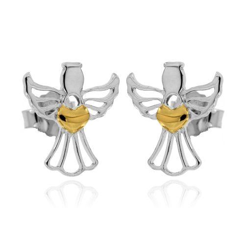 Stříbrné náušnice anděl 495
