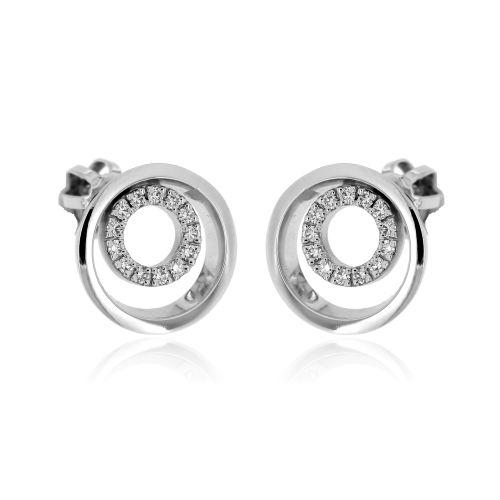 Diamantové náušnice z bílého zlata 33678