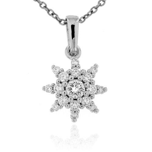 Zlatý diamantový přívěsek hvězdička 34002