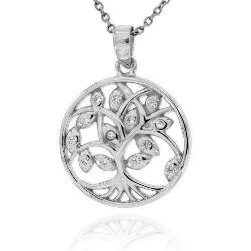 Stříbrný přívěsek strom života 04