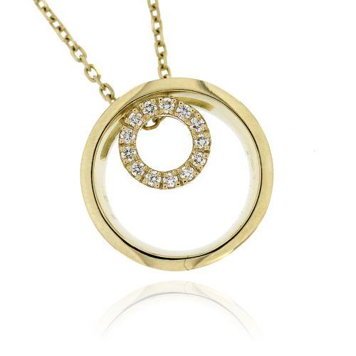 Zlatý diamantový přívěsek 33340