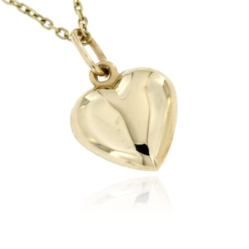 Zlatý přívěsek hladké srdce 292
