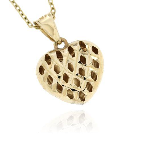Zlatý přívěsek srdce 10203
