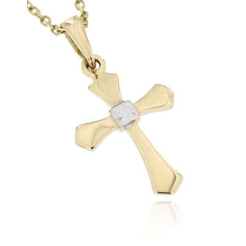 Zlatý přívěsek křížek 2841