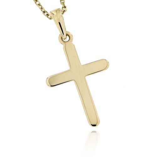 Zlatý přívěsek hladký křížek 2843