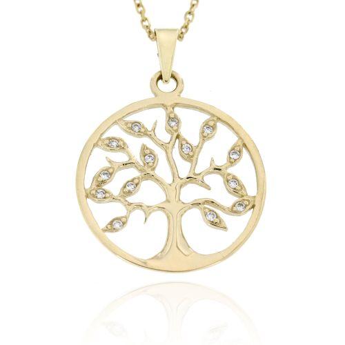 Zlatý přívěsek strom života 506ž