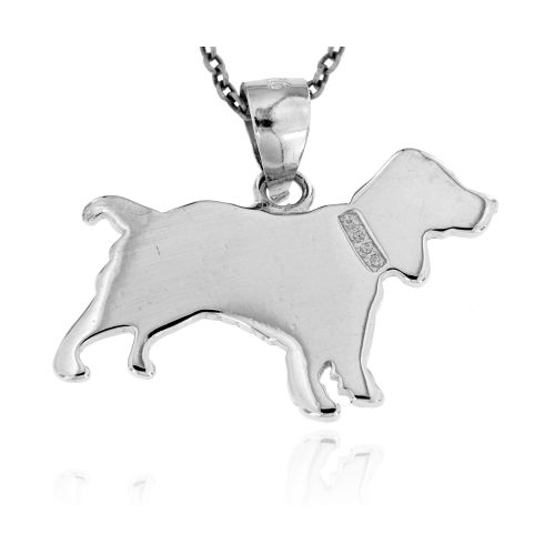 Stříbrný přívěsek pes