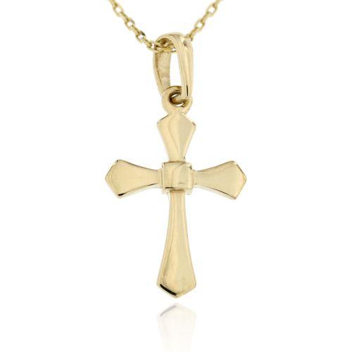 Zlatý přívěsek křížek 2841ž