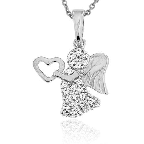 Stříbrný přívěsek anděl 2101