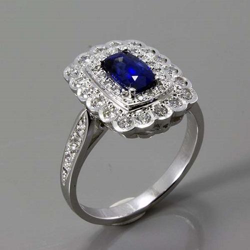 Diamantový prsten se safírem c0a757e7f62