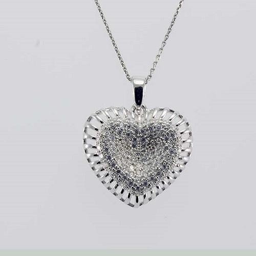 74f31fa73 Stříbrný přívěsek srdce 348310