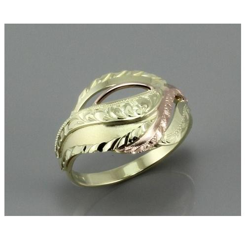 Výrazný dámský prsten z kombinovaného zlata 538 33619551bca