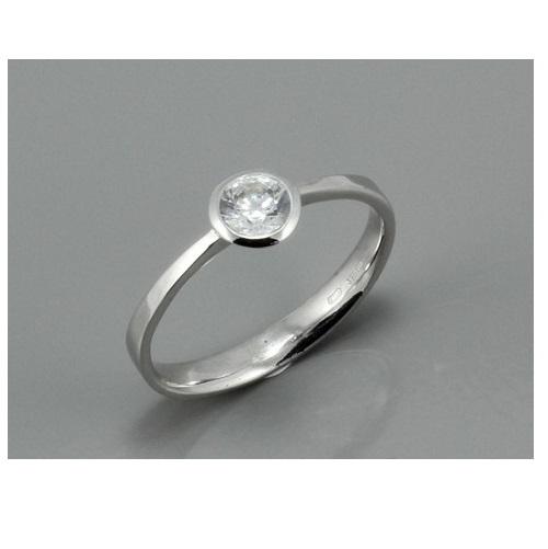 Zasnubni Prsten Z Bileho Zlata 1883